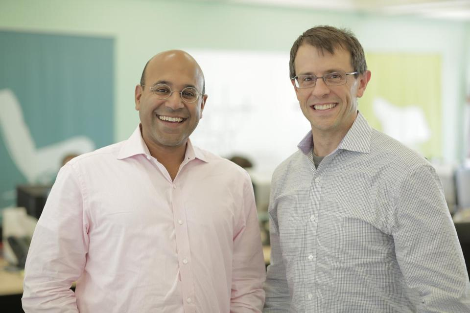Wayfair co-founders Niraj Shah and Steve Conine.