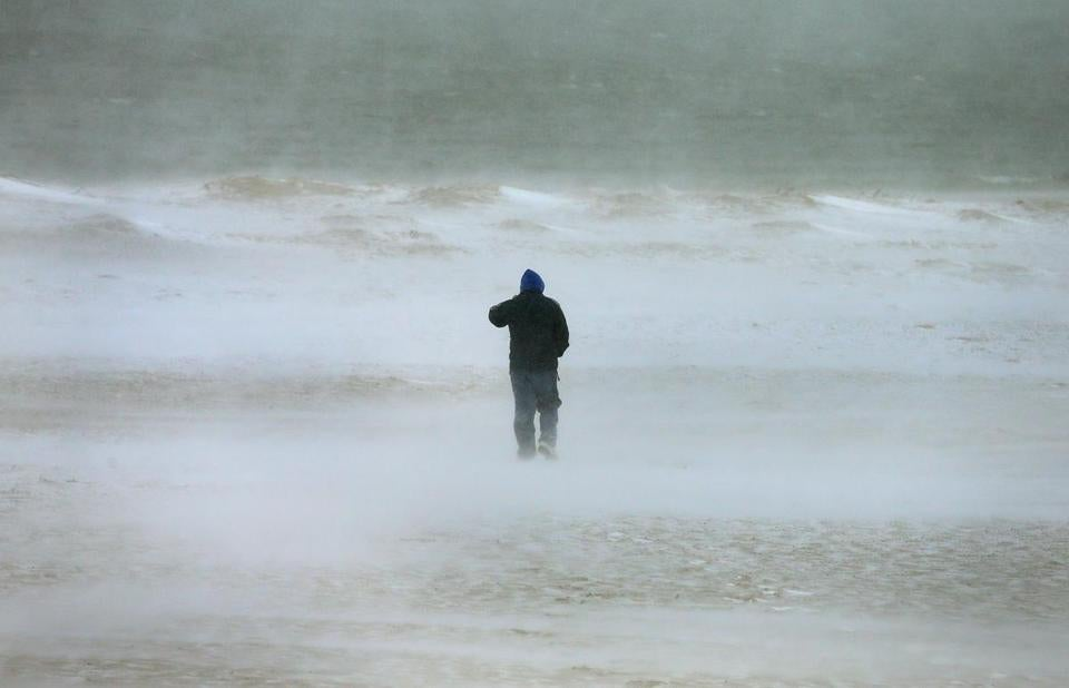 Blizzard conditions on Chatham Wednesday afternoon as a storm slammed Cape Cod and the Islands.