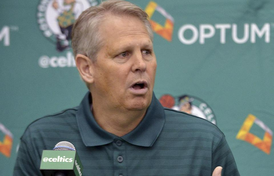 Danny Ainge and his NBA colleagues will put prospects through their paces at the combine this week. AP Photo/Josh Reynolds