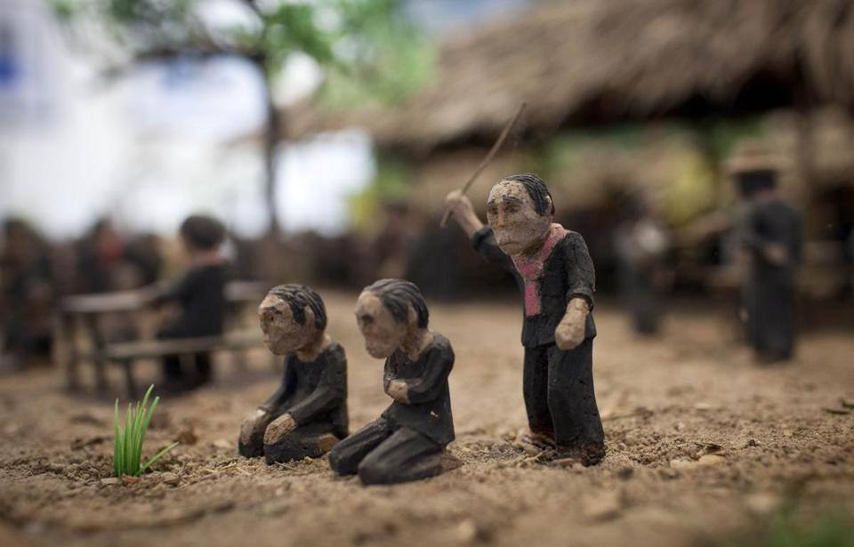"Director Rithy Panh uses clay models to depict key moments in ""The Missing Picture."""