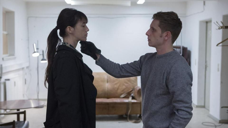 "Charlotte Gainsbourg and Jamie Bell in ""Nymph()maniac: Vol. II."""