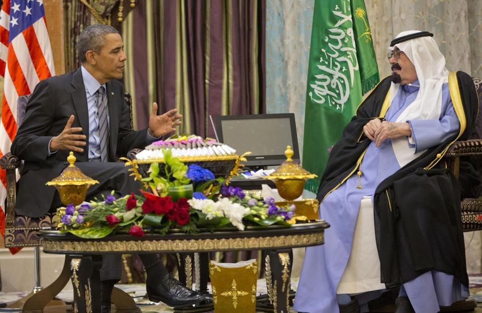 President Obama and King Abdullah met for more than two hours outside the capital city of Riyadh on Friday.