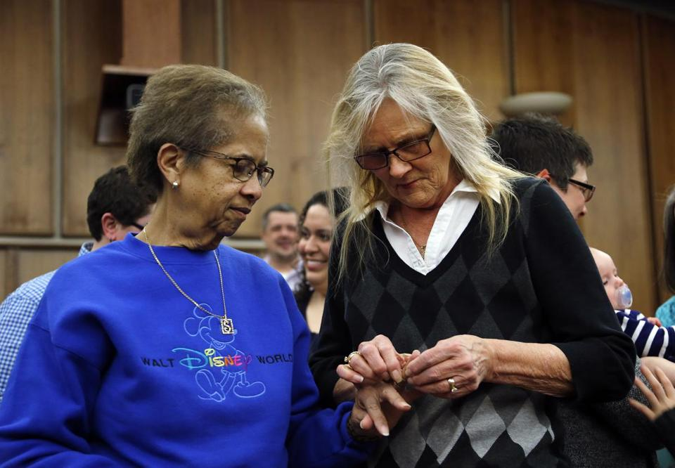 A couple got married in Michigan on March 22, before a federal appeals court put same-sex marriages in the state on hold.