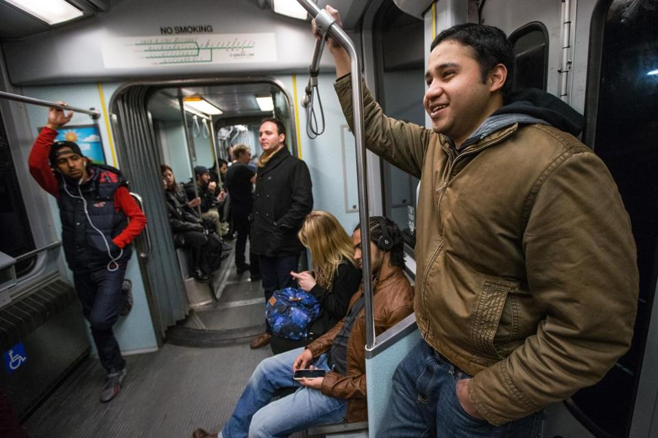 Salman Chowdhury, 27, of Medford, rode the Green Line to Park Street at 2:35 a.m.