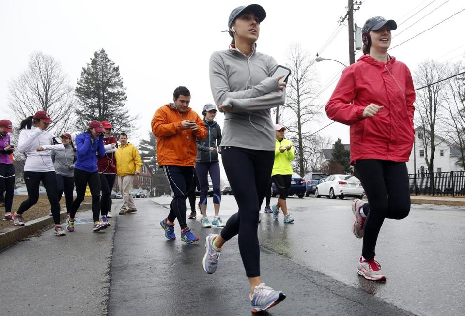 A group of runners associated with the Boston College Campus School trained to run the Boston Marathon route, but they won't be running on Marathon day as they have done in the past.