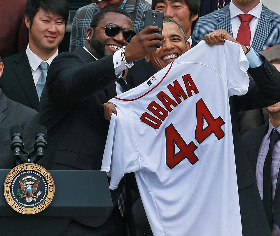 David Ortiz took the photo with President Obama when the Red Sox came to the White House on Tuesday to be honored for their 2013 World Series Championship.