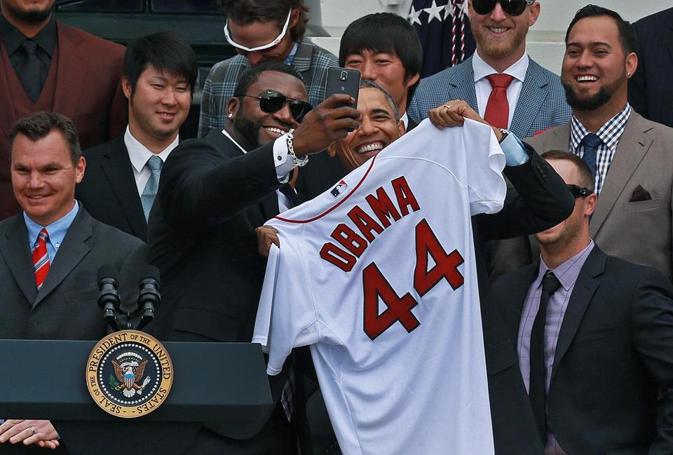 President Obama obliged when David Ortiz asked him to take a selfie.