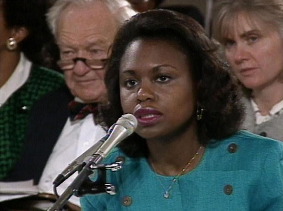 """Anita"" includes footage of Anita Hill (above) testifying before the Senate Judiciary Committee in 1991."