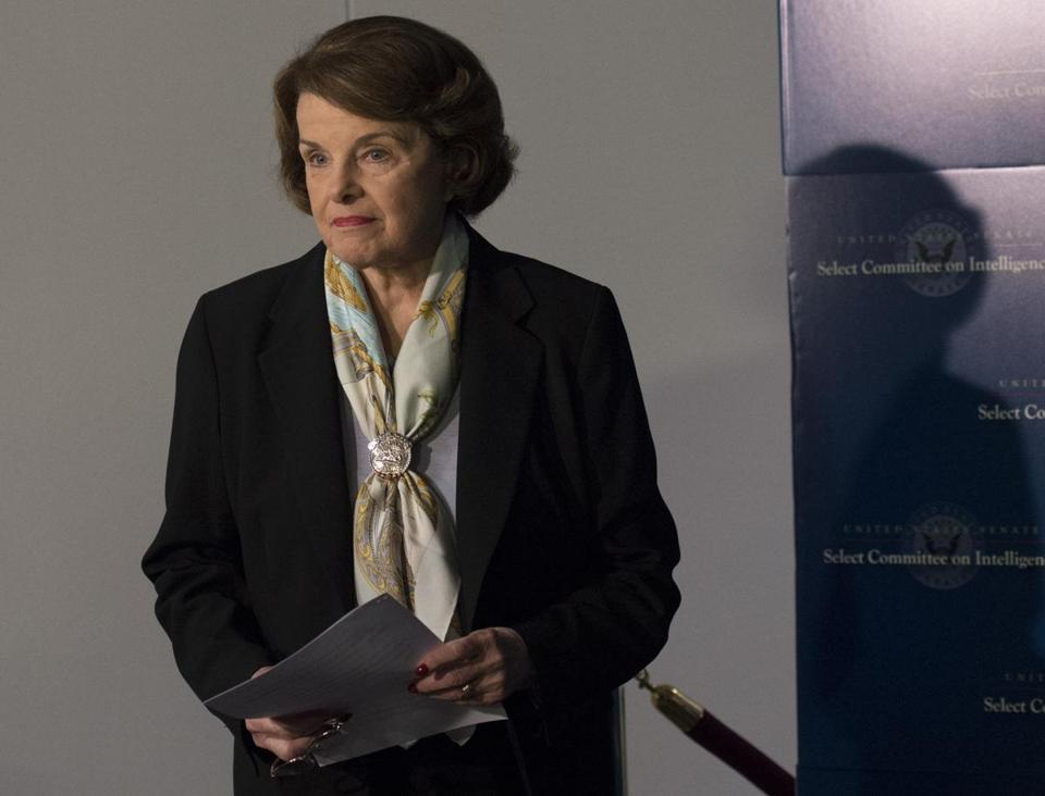 Senate Intelligence Committee Chair Sen. Dianne Feinstein, gave a statement after a closed hearing.