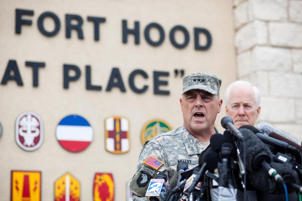Lt. Gen. Mark Milley, Fort Hood's senior officer, said there's no indication that Spc. Ivan Lopez targeted specific soldiers in Wednesday's shooting that left three dead.