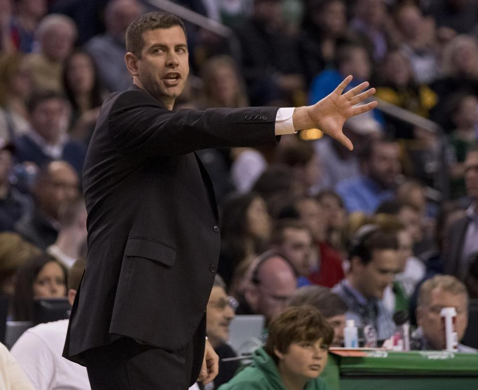 Celtics coach Brad Stevens watched his team hoist 33 3-pointers Friday night, making just nine.