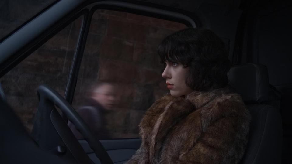 Scarlett Johansson plays a nameless woman who drives around in a van looking for men.