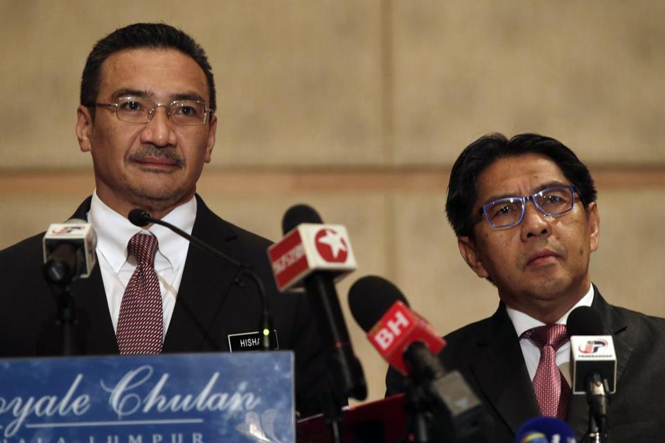 Malaysian Defense Minister Hishammudin Hussein (left) told reporters that in light of the new information, ''We are cautiously hopeful that there will be a positive development in the next few days, if not hours.''