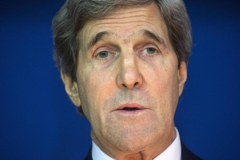 Secretary of State John Kerry was testifying Tuesday before a Senate panel.
