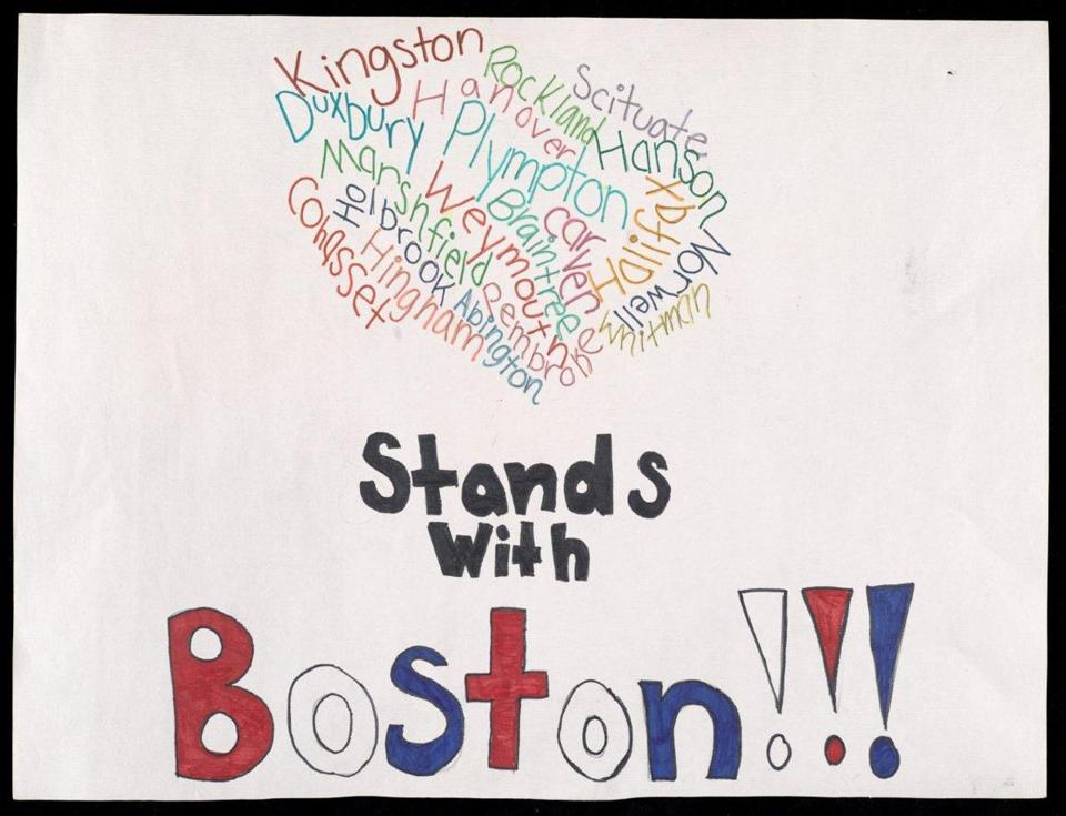An artifact from the exhibit called ''Dear Boston: Messages from the Marathon Memorial.""