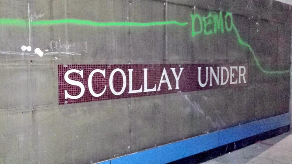 A photo of the mosaic released by the MBTA.