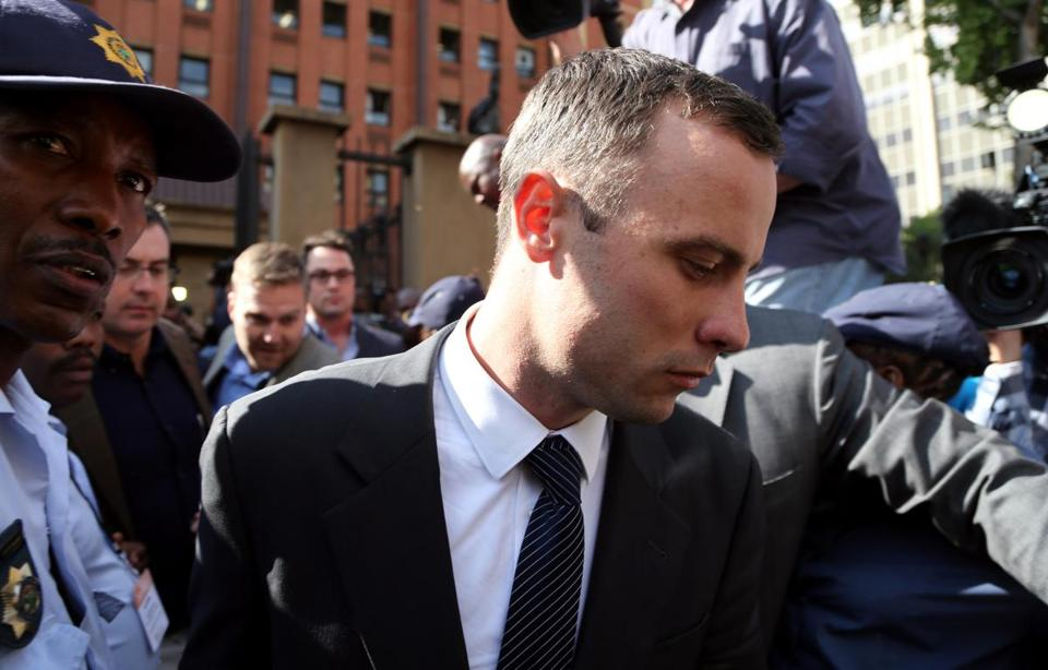 Oscar Pistorius described Tuesday what he said were the terror-filled moments before he shot Reeva Steenkamp to death.