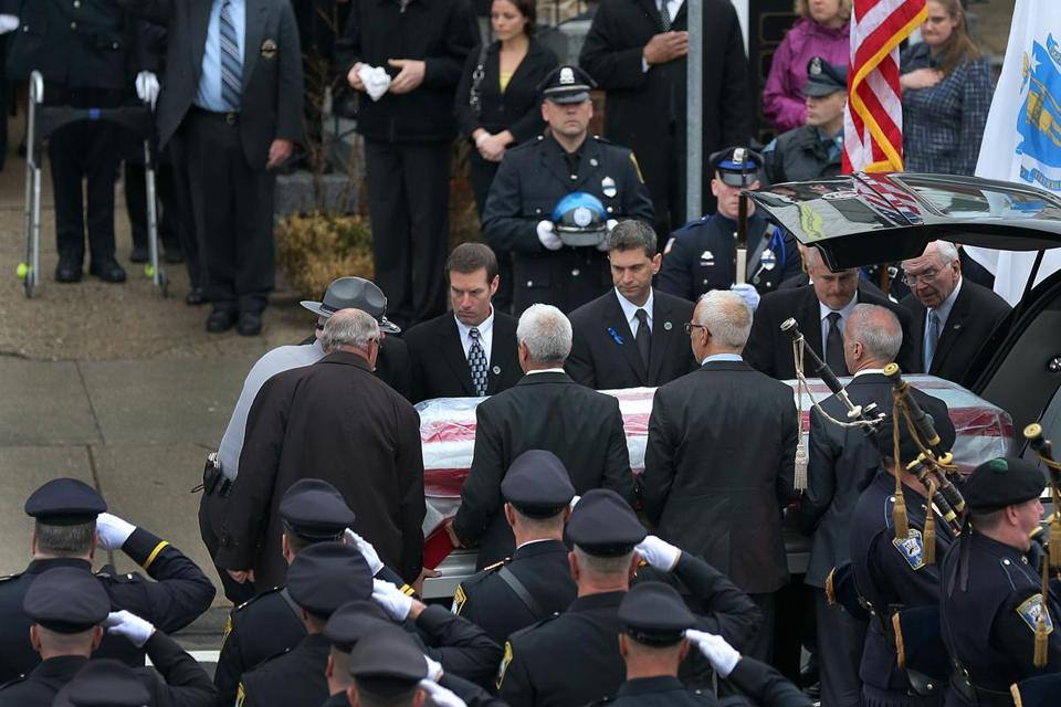 Thousands gathered to say goodbye to Plymouth Police Officer Gregory Maloney.