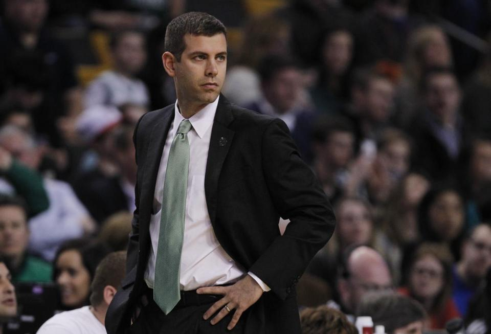 Brad Stevens is eager to get the Celtics playing as well as their Boston sports brethren.. (AP Photo/Charles Krupa)