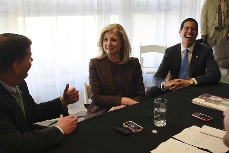 Daniel Koh (right) worked for Arianna Huffington before Boston's new mayor, Martin J. Walsh, hired him away to be his chief of staff.