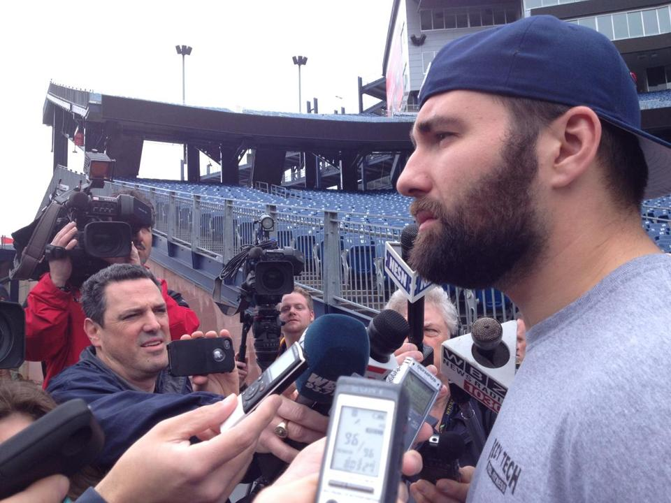 Rob Ninkovich met with reporters at Gillette Stadium on Tuesday.
