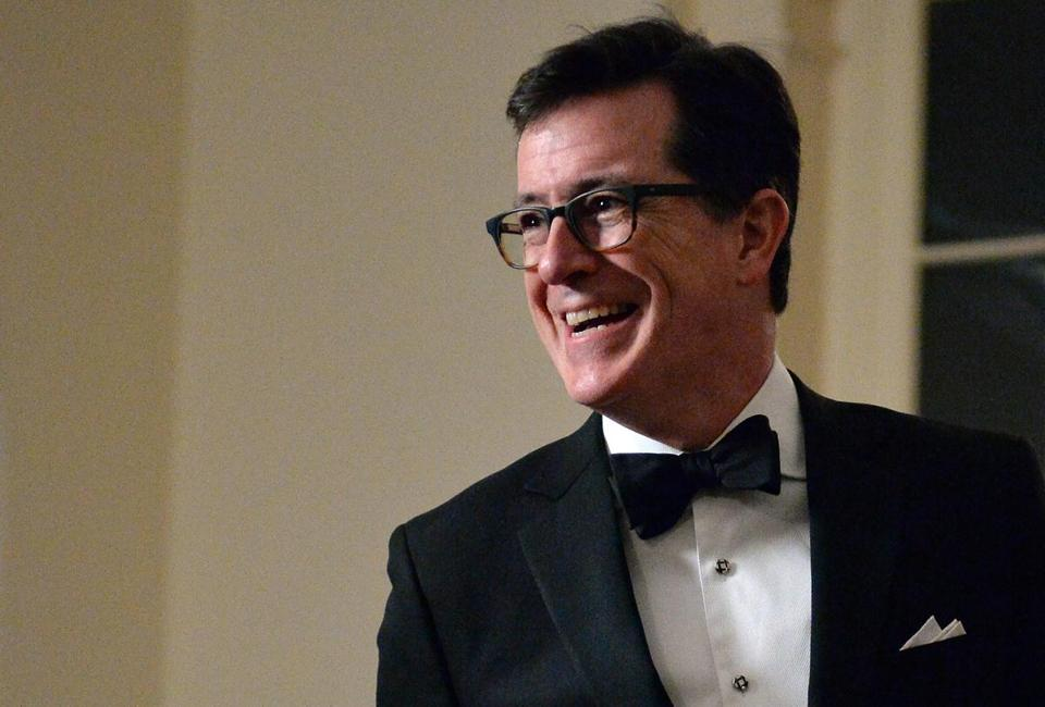 Comedian Stephen Colbert at the White House in Washington, D.C.