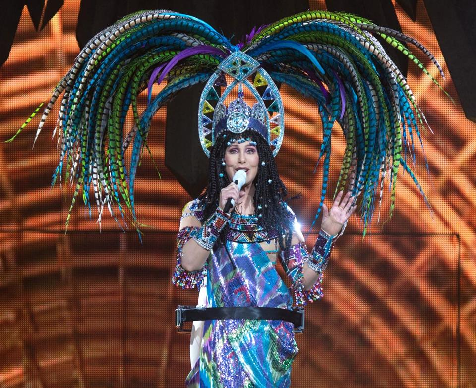 Cher performed at TD Garden.