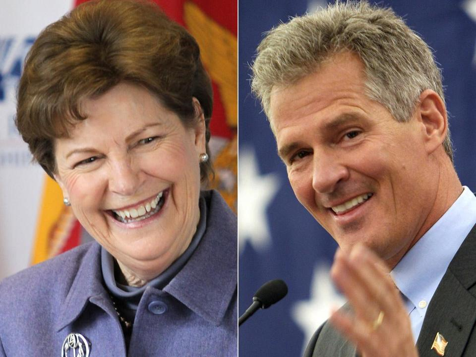 US Senator Jeanne Shaheen could face Republican Scott Brown in the general election.