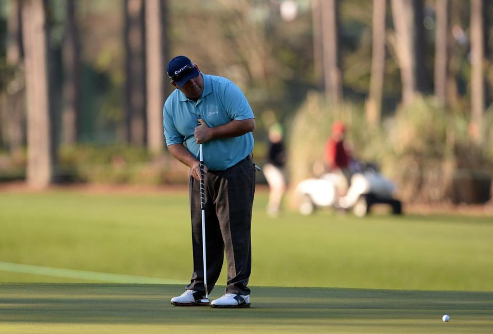 Kevin Stadler had an impressive round of 70 in his Masters debut. (Emmanuel Dunand/AFP/Getty Images)