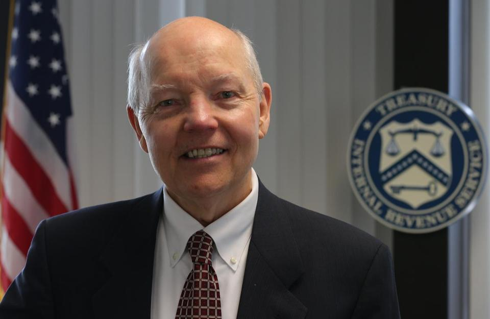 IRS Commissioner John Koskinen vitied the Boston IRS office on Friday.
