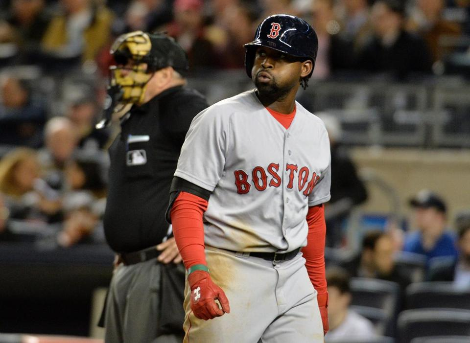 Jackie Bradley Jr. and the Red Sox are 4-6, but only one game behind in the AL East.