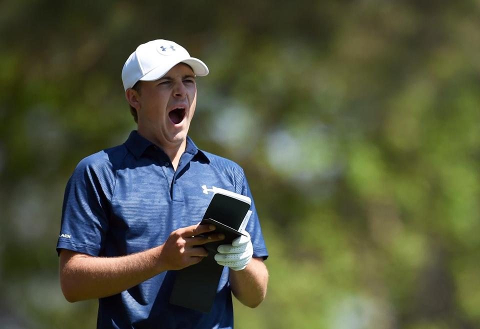Jordan Spieth didn't get overly excited despite earning a share of the third-round lead at the Masters.