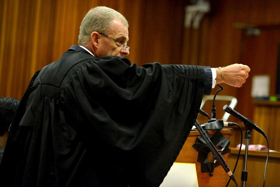 Chief prosecutor Gerrie Nel accused Oscar Pistorius of tailoring his testimony to fit the evidence at the scene. Pistorius denied the accusations.