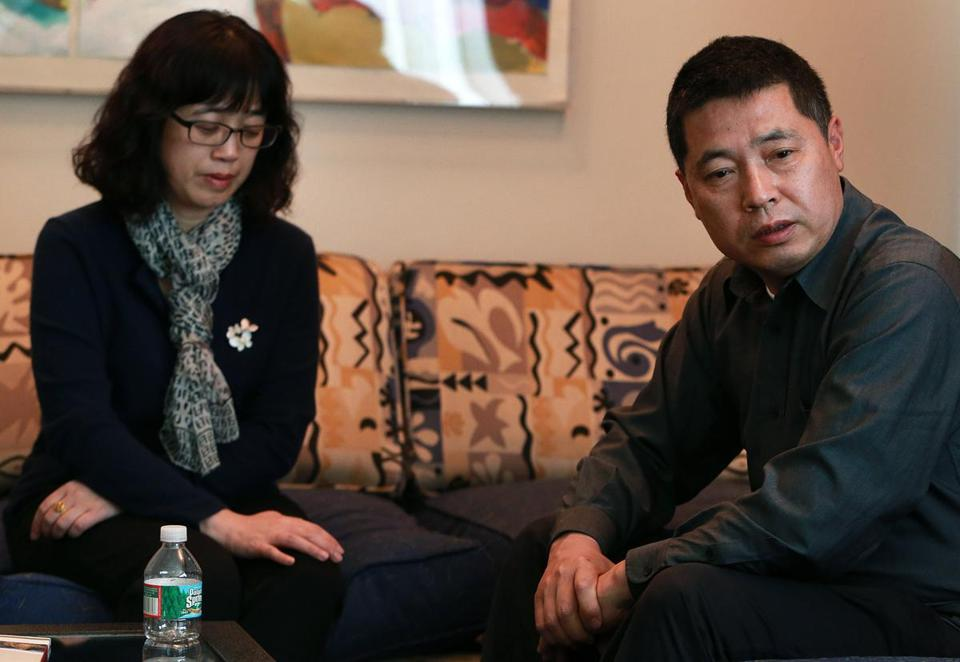 Lingzi Lu's parents Ling Meng (left) and Jun Lu, say they are humbled by the love they received.