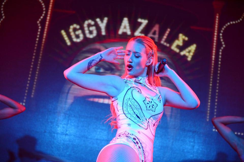 "Iggy Azalea performing earlier this year in Los Angeles. Her debut album, ""The New Classic,""  is out Tuesday."