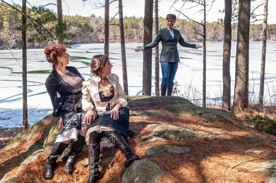 "Paula Plum, Mara Sidmore, and Brooke Hardman costar in Actors' Shakespeare Project's ""As You Like It."""