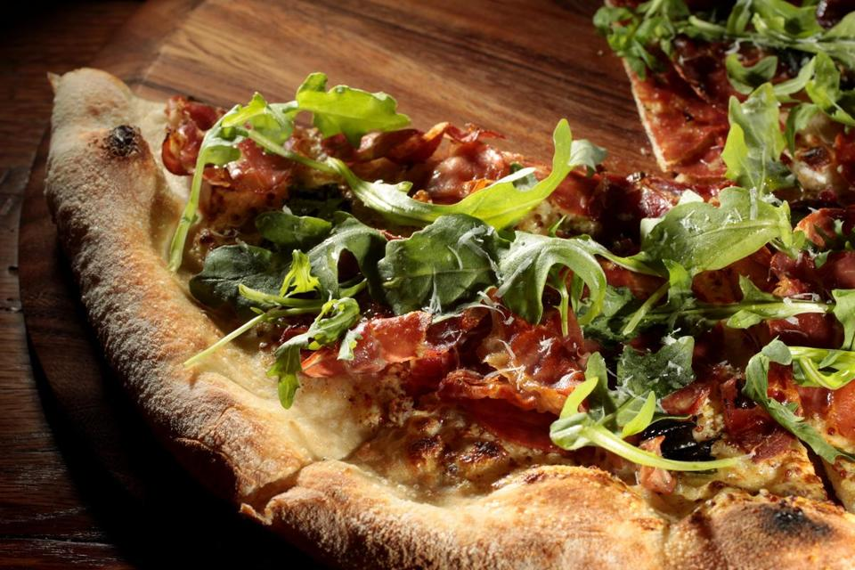 Enjoy a pizza from the Salty Pig right around the corner from the Marathon's finish line.