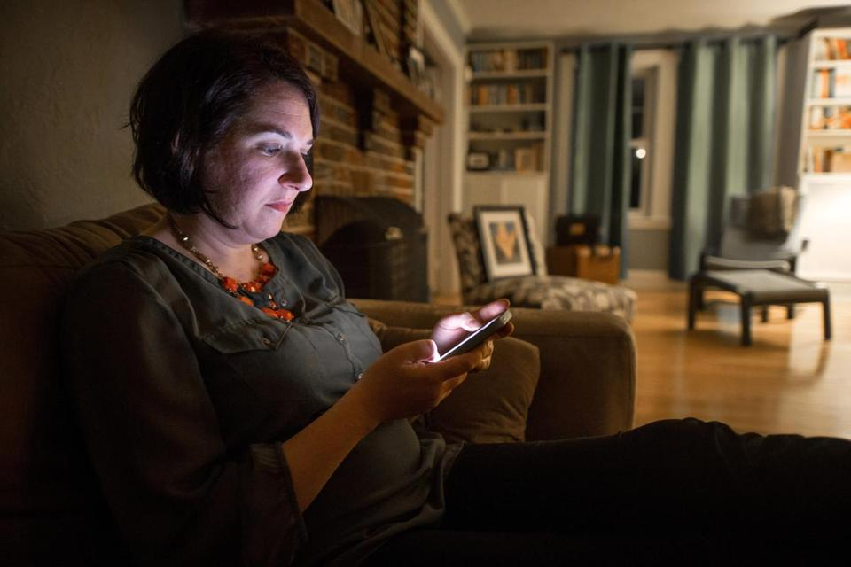 Elizabeth Cohen sent and replied to work e-mails after 9 p.m. at her home in Arlington.