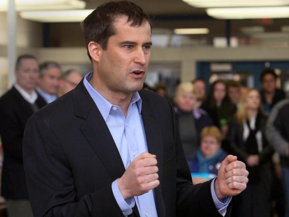 Democrat Seth Moulton hopes to topple Rep. John Tierney in the September primary.