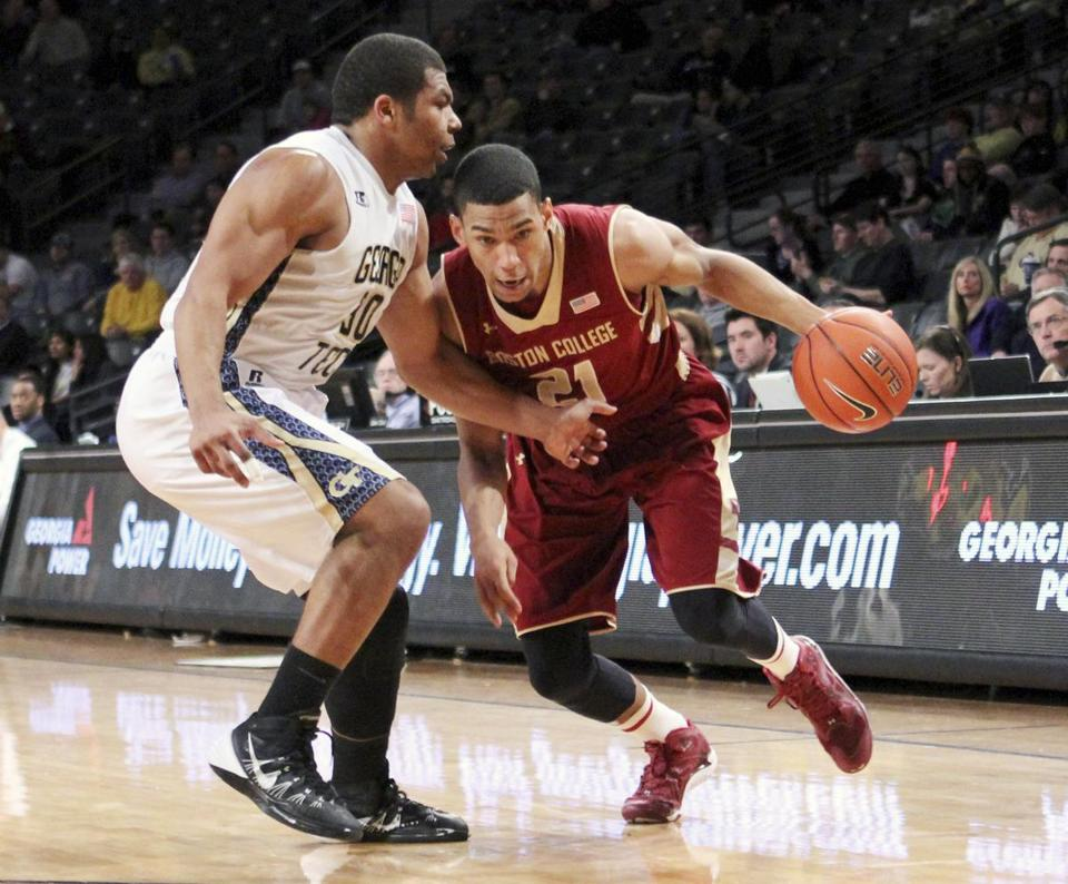 Olivier Hanlan is seen by his coach as a stabilizing influence on the BC roster. AP Photo/Jason Getz
