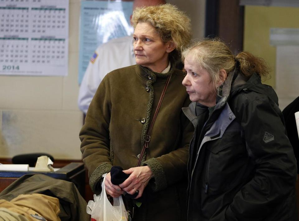 Randi Berkowitz (left) and Patricia DiGiacomo pleaded not guilty during their arraignment at Suffolk Superior Court.