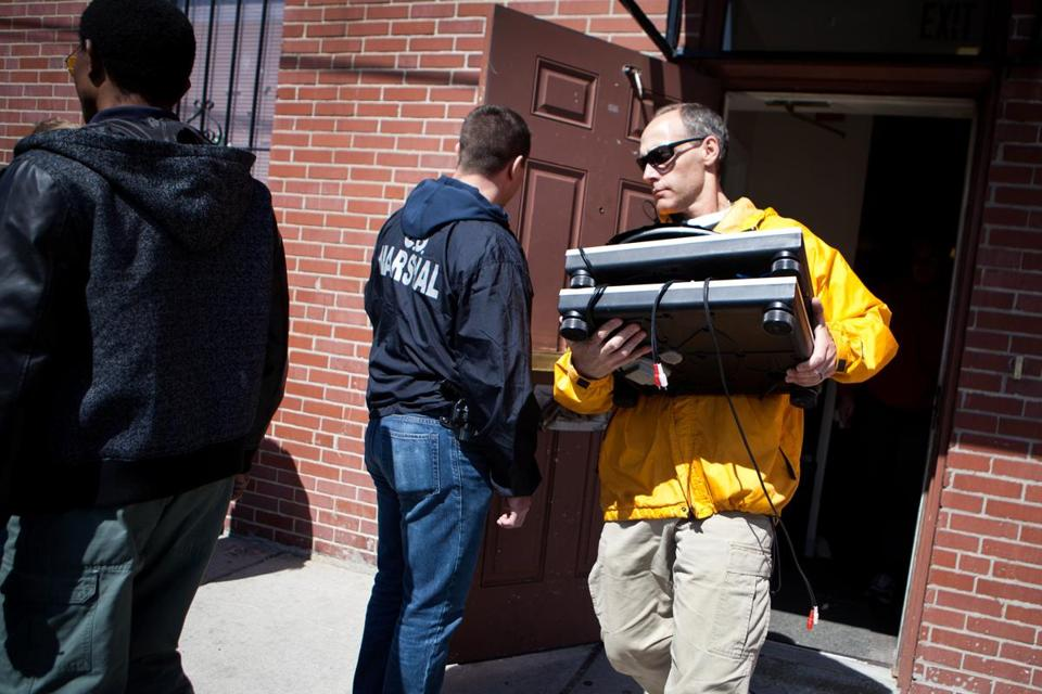 US marshals seized transmission equipment from TOUCH 106.1 FM in Boston's Grove Hall neighborhood Thursday in a crackdown on unlicensed radio stations.
