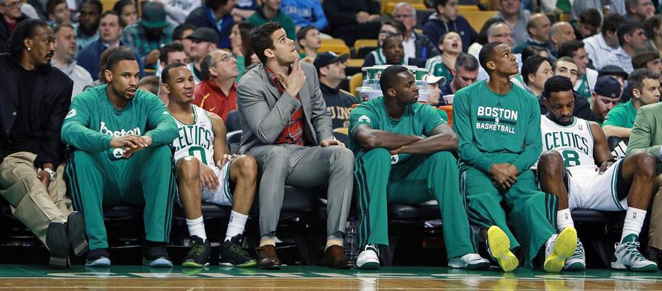 The Celtics' bench was sullen in the final minutes of their season-ending loss.