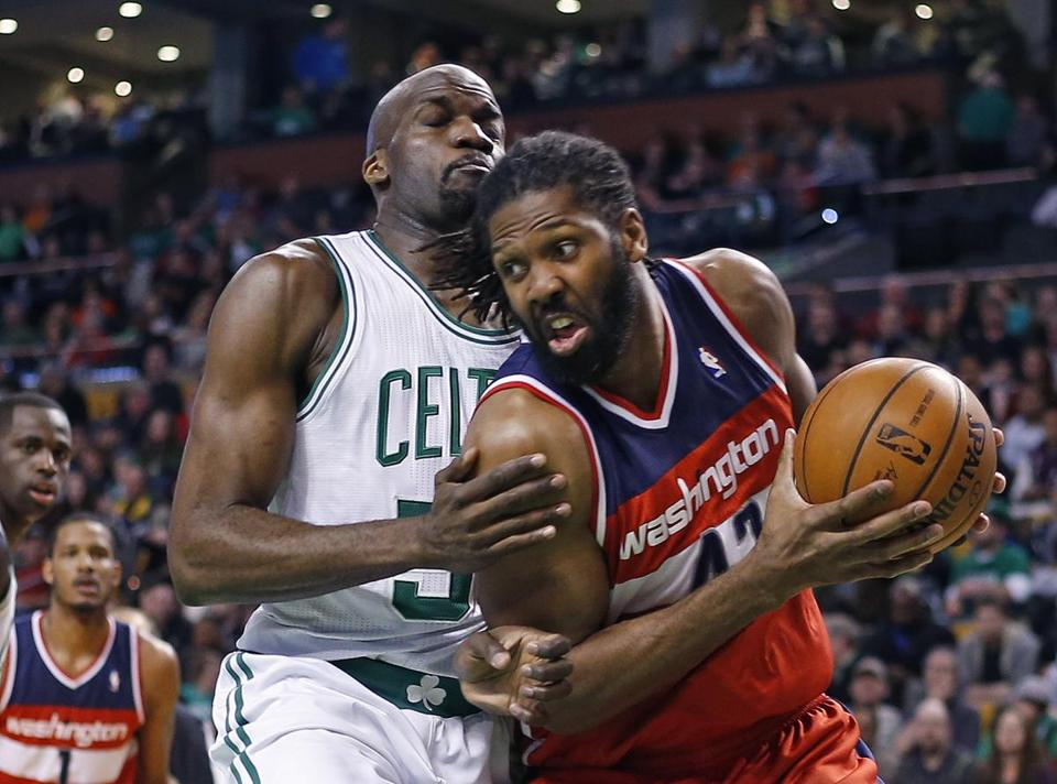 Joel Anthony (left), who played sparingly for the Celtics, likely wouldn't have received $3.8 million on the open market.