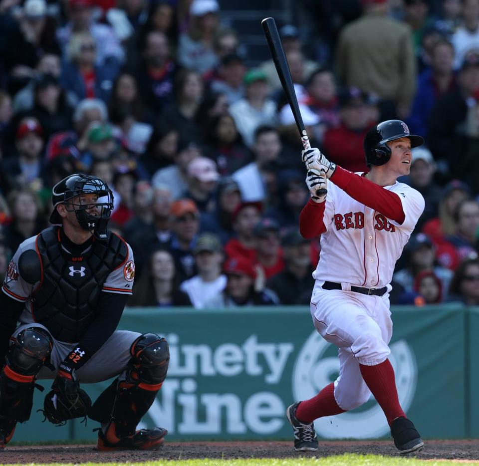 Brock Holt hit an RBI triple that lifted the Red Sox to a 4-2 victory over the Orioles at Fenway Park.