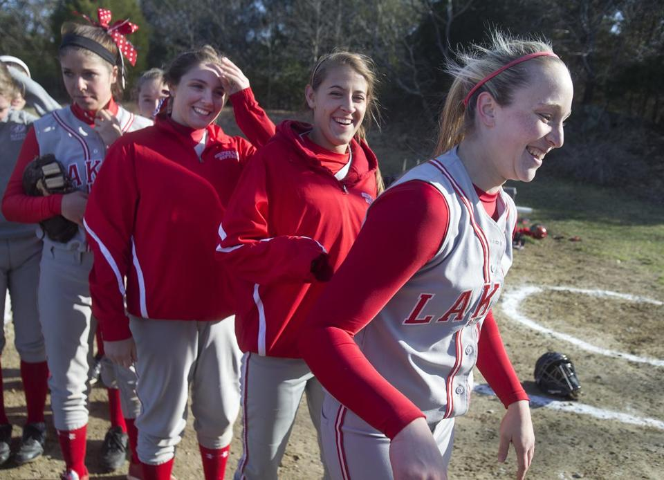 Silver Lake's Maddy Barone, right, threw five straight no-hitters at one point this season.
