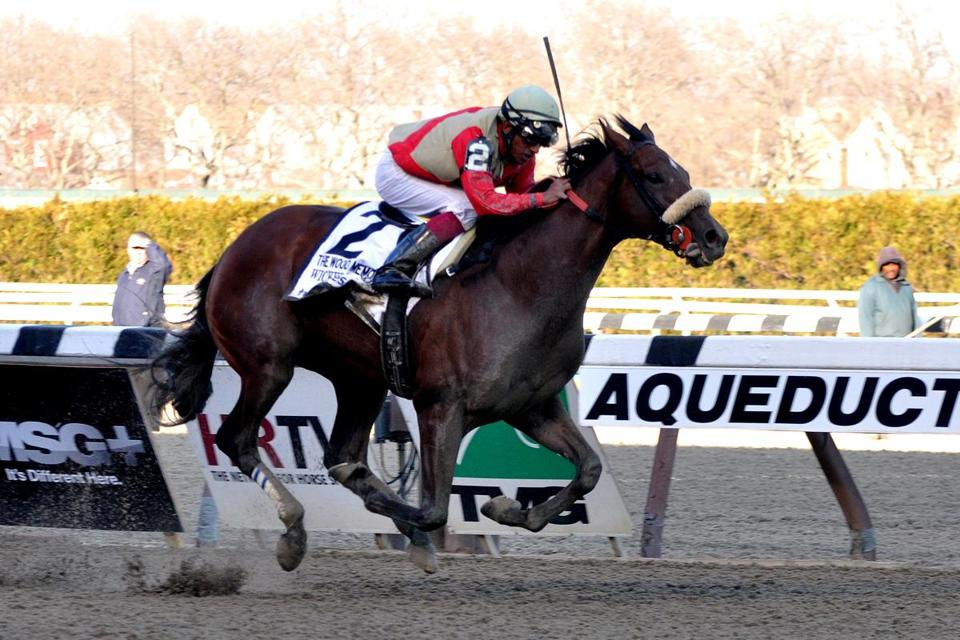 Rajiv Maragh rode Wicked Strong to an impressive 3½-length victory in the Wood Memorial on April 5 to give Beverly-based Centennial Farms its first Kentucky Derby entrant.