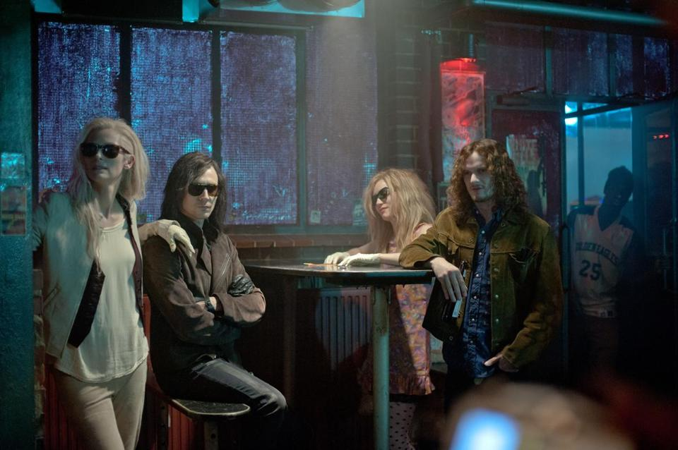 "From left: Tilda Swinton, Tom Hiddleston, Mia Wasikowska, and Anton Yelcin in Jim Jarmusch's ""Only Lovers Left Alive."""