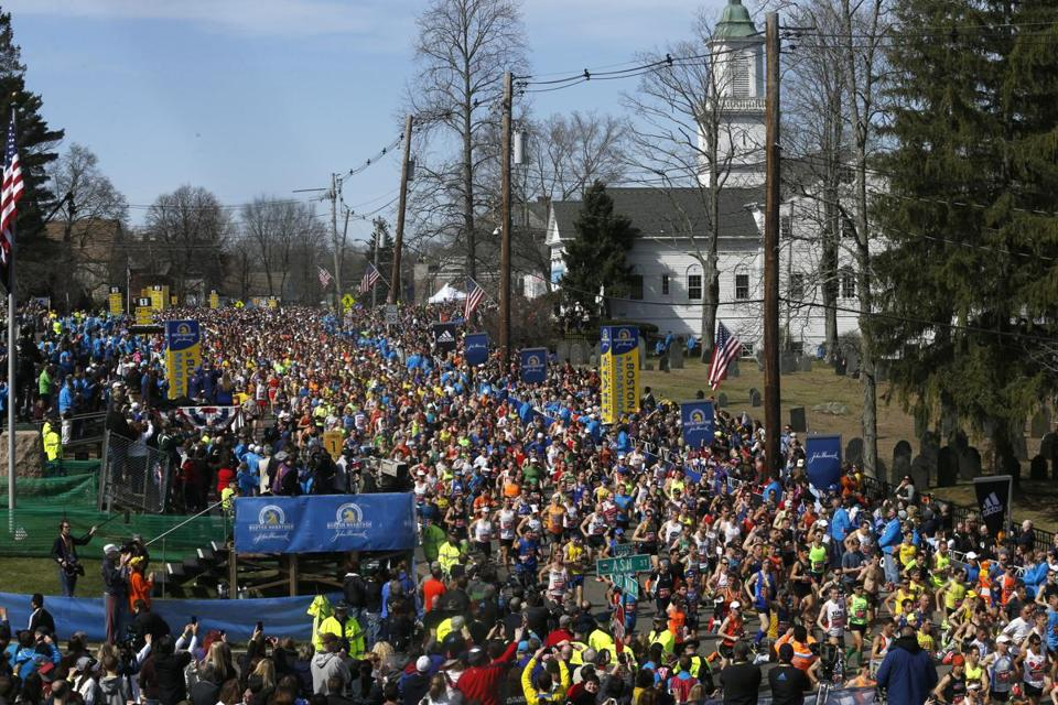 More than 32,000 runners started the 2014 Boston Marathon.
