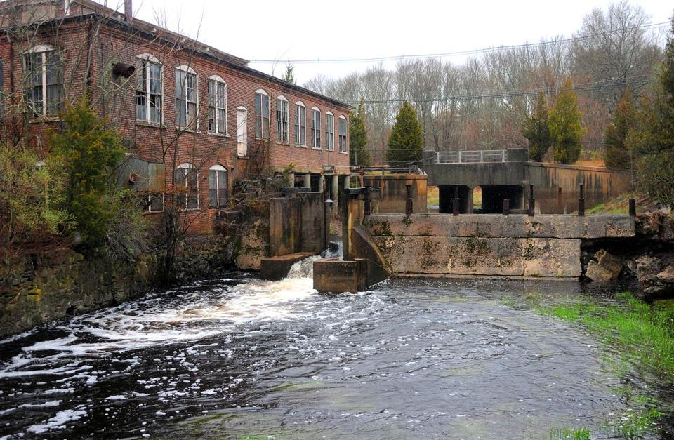 The removal of this dam in East Bridgewater would help restore fish along the Satucket River.